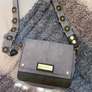 Steve Madden Grey and Olive Crossbody with Flowers